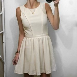 Topshop Nude Blush Sleeveless Skater Dress 4